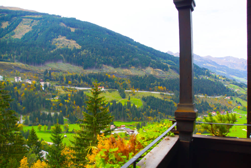 Haus Hirt - Bad Gastein - Aussicht aufs Tal
