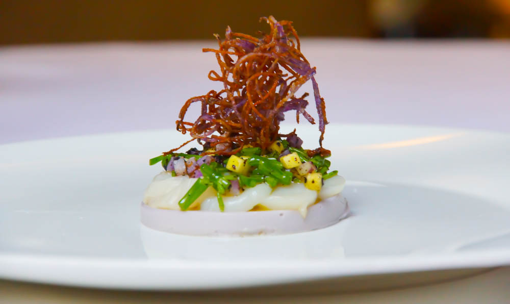 Le Chapon Fin Restaurant - Jakobsmuschel-Carpaccio mit Mango