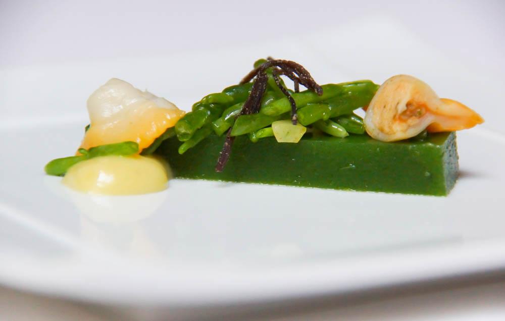 Le Chapon Fin Restaurant - Muscheln Salicoren und Algengelee
