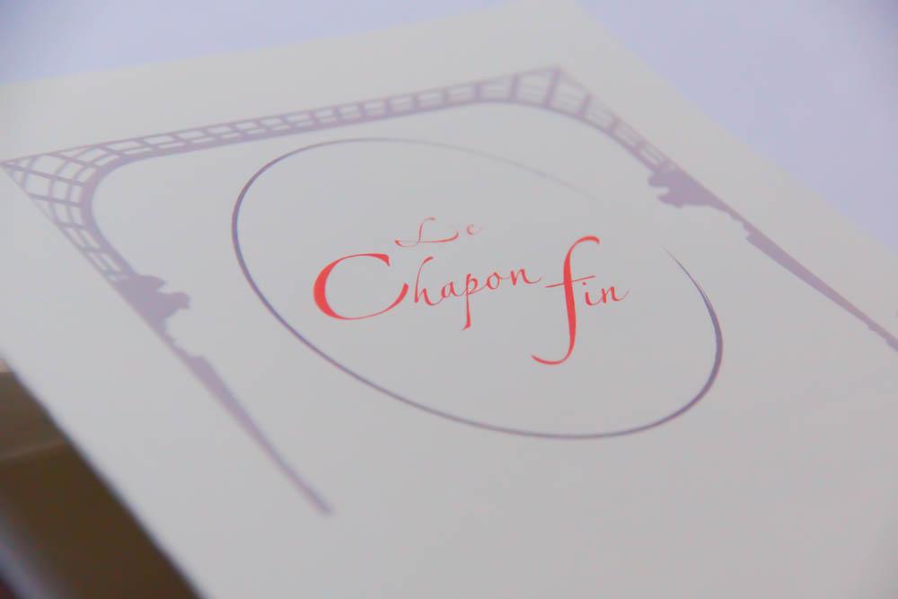 Le Chapon Fin Restaurant - Speisenkarte