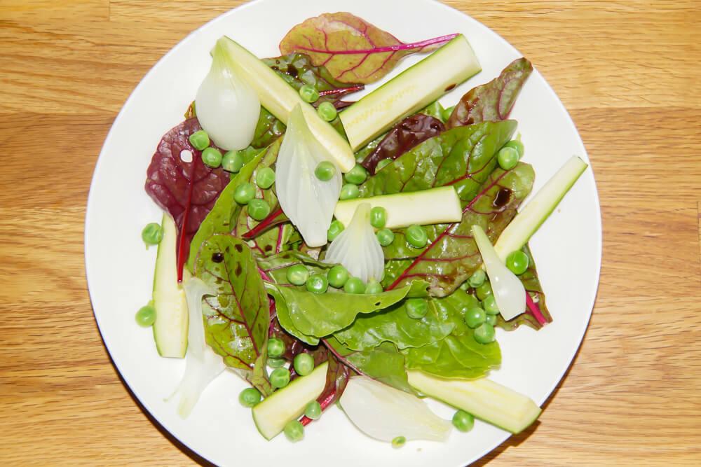 Gartensalat-Frische im Sommer