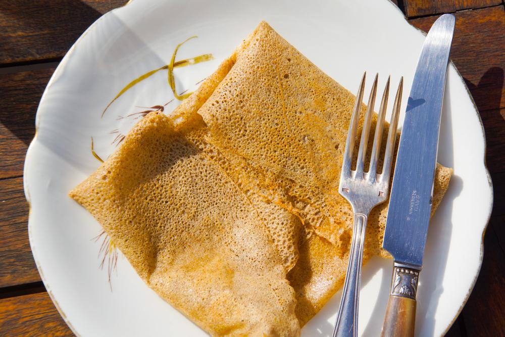 Galettes mit Crème de caramel au beurre salé
