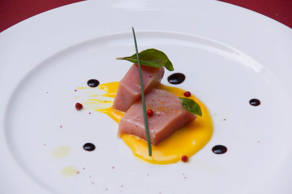 Thunfisch mit Mangosoße