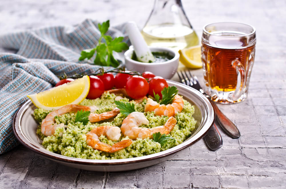 Couscous mit Shrimps