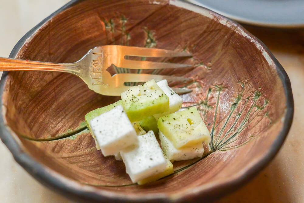 Twins Restaurant Moskau - Algen und Ananasguave