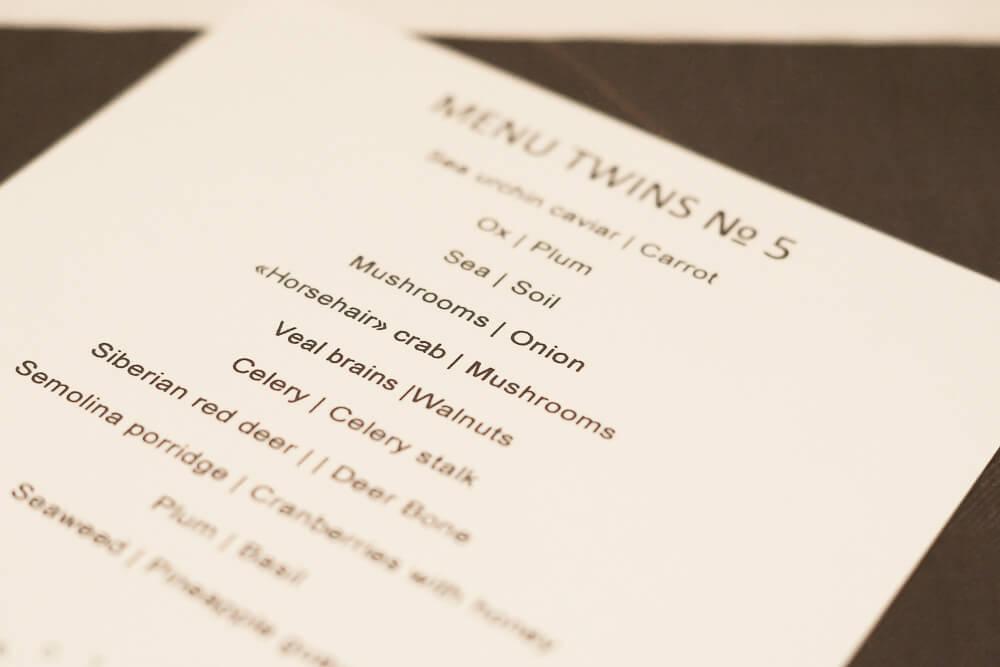 Twins Restaurant Moskau - Menü Nummer 5