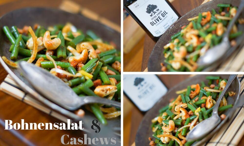 Bohnensalat mit Curry-Cashews