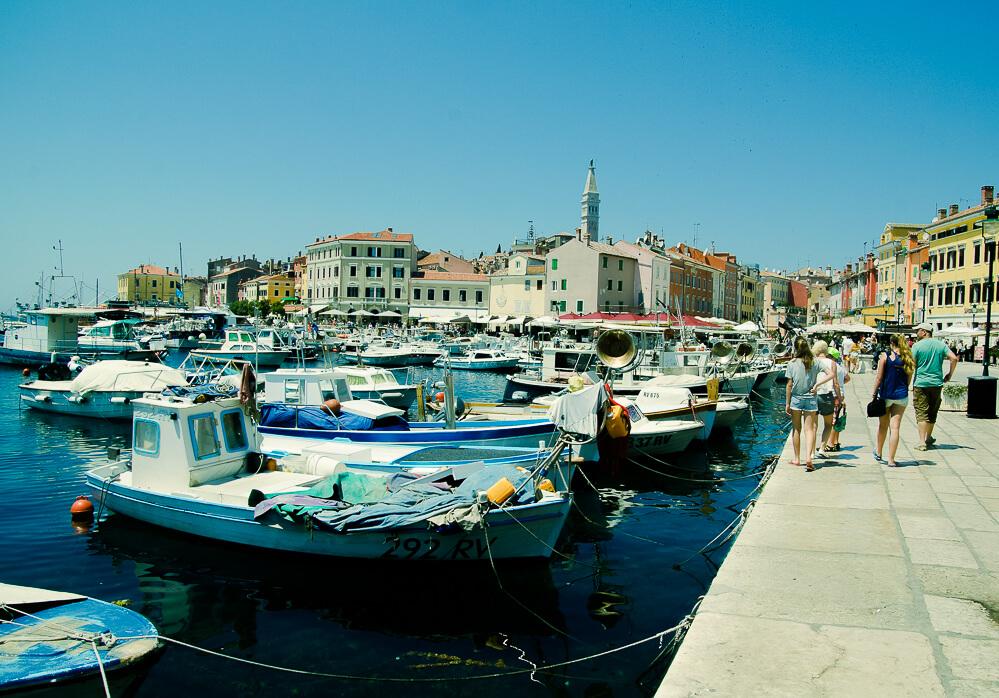Angeln im Hafen oder an der Mole in Kroatien