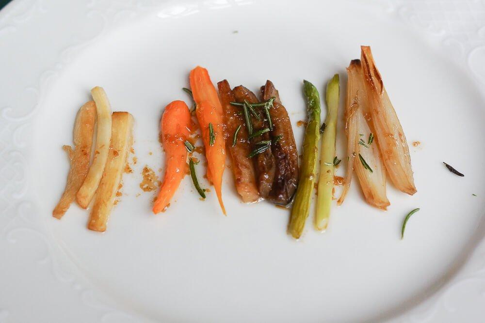 Café Pushkin, Moskau - Gemüsespiegel für Sterlet