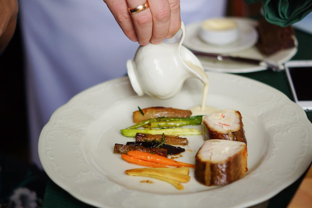 Café Pushkin, Moskau - Sterlet mit Gemüse und feiner Soße