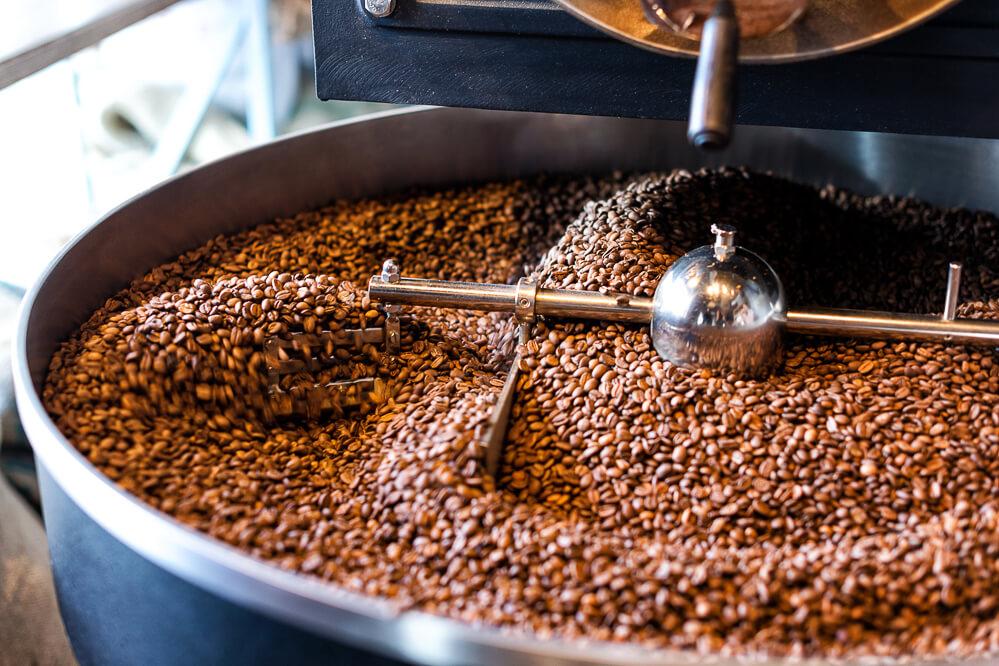 Kaffebohnen rösten