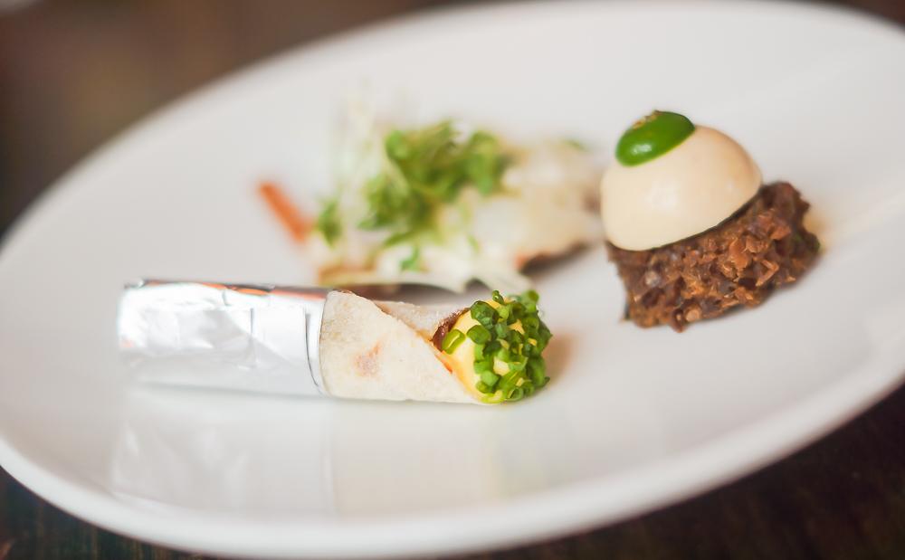 Restaurant Lysverket Bergen - Amuse Zusammenstellung