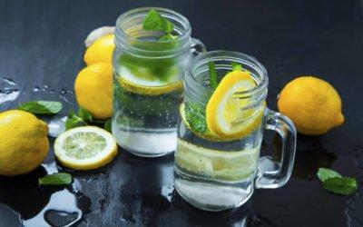 Sprudelwasser - Veredelt mit Zitrone