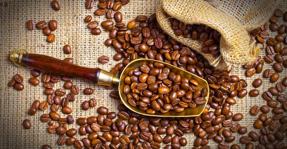frisch geröstete Kaffee Bohnen