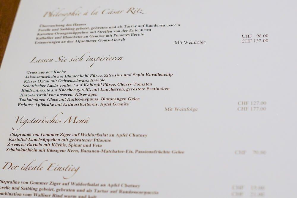 Hotel & Restaurant Castle - Blitzingen - Speisenkarte