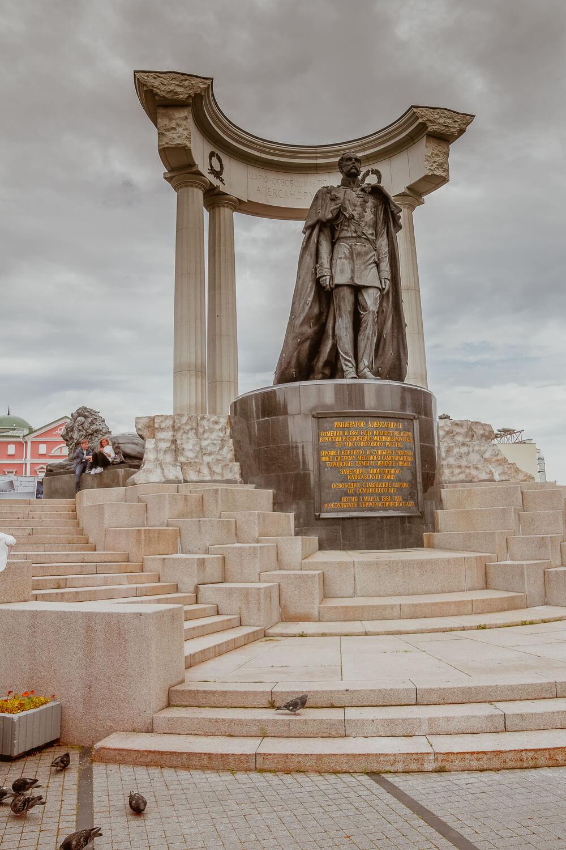 Moskau - Christ Erlöser Kathedrale - Denkmal