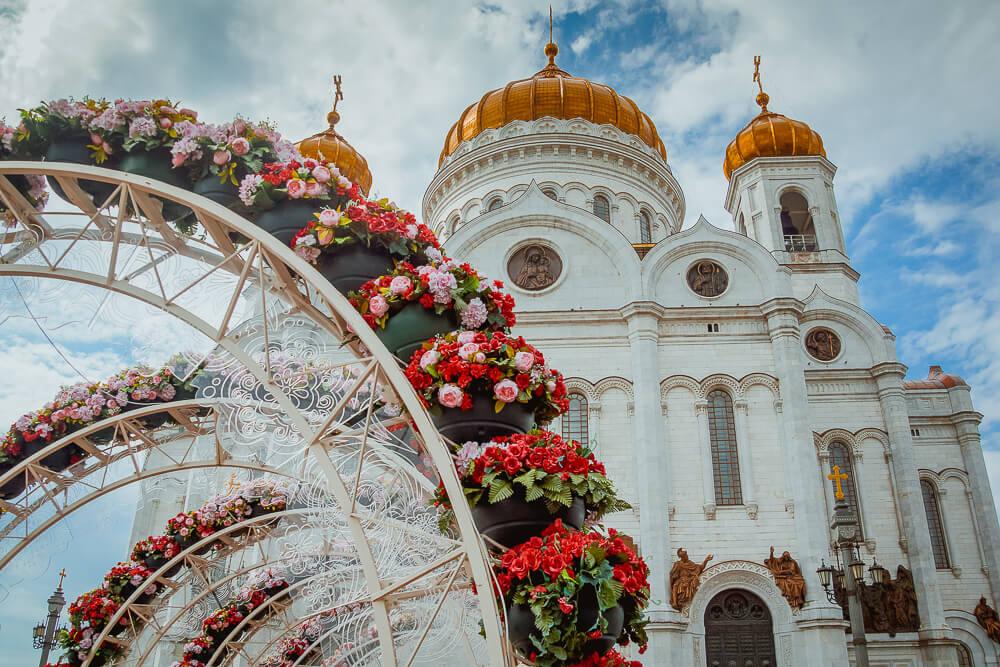 Moskau - Christ Erlöser Kathedrale im Sommer