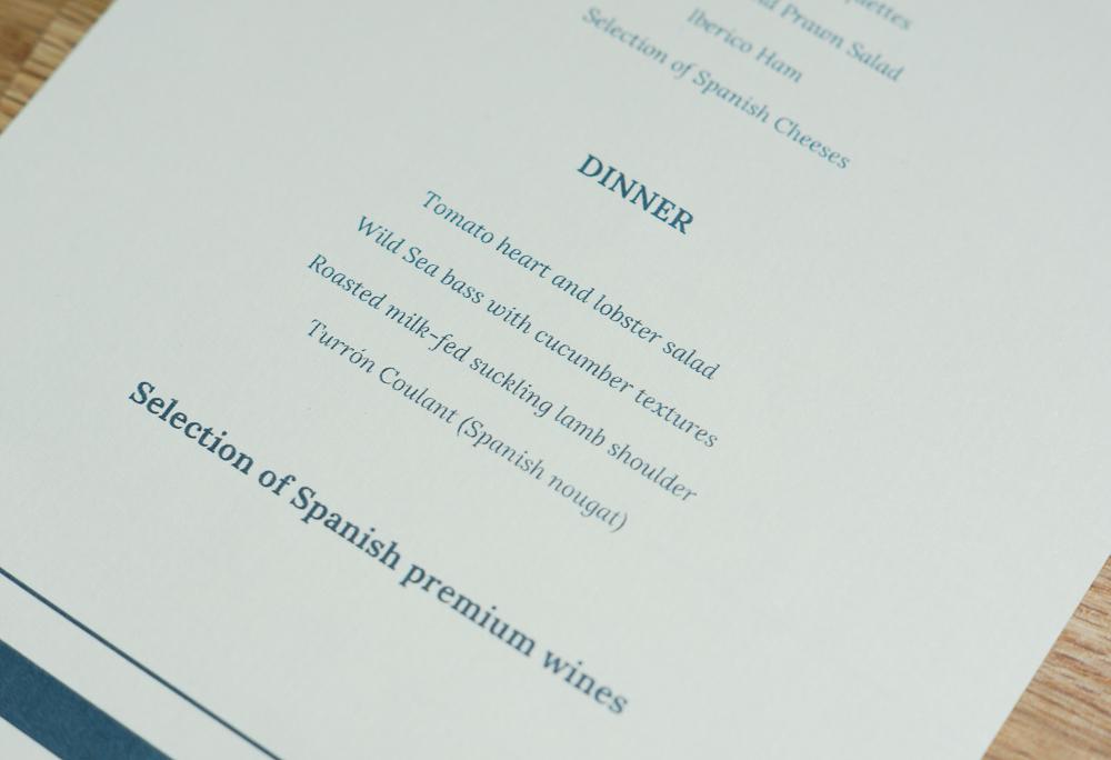 Restaurant Hispania, NH Collection Grand Sablon Brüssel Karte