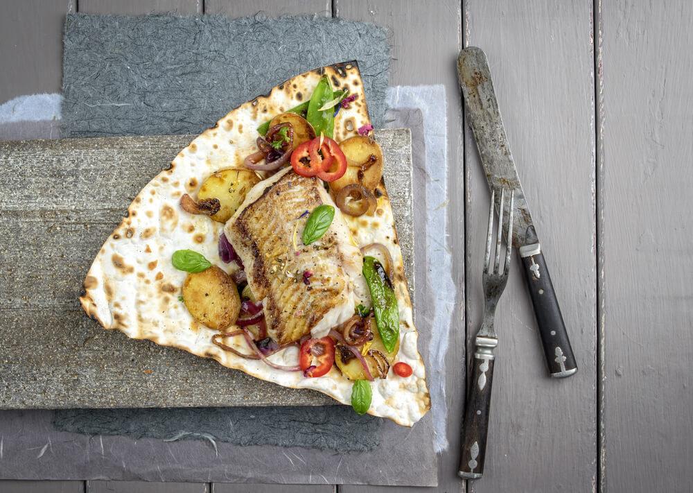 Yufka Brot mit Cod - einfach lecker