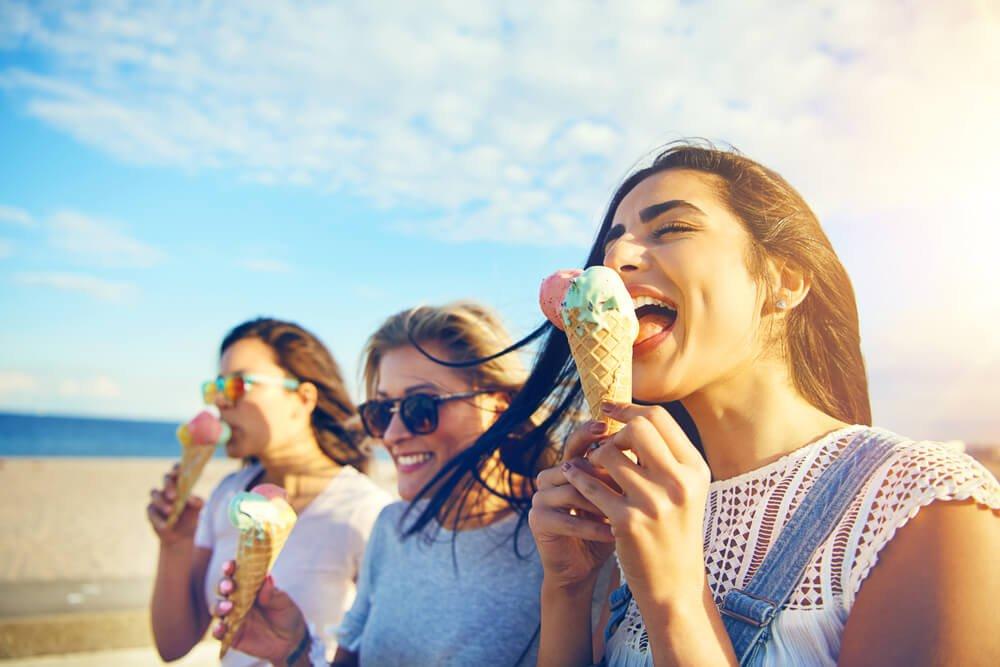 Eis im Urlaub - voller Genuss