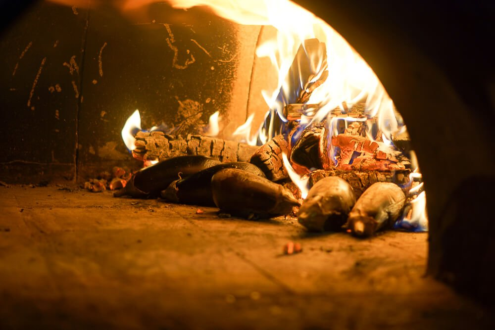 Nofar Restaurant Moskau - Auberginen im Feuer