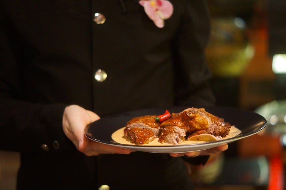 Black Thai Restaurant Moskau - Krosse Ente mit Kokossoße