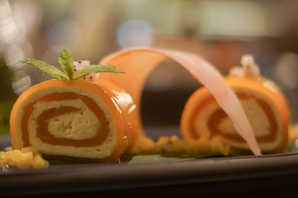 Black Thai Restaurant Moskau - Mango-Röllchen Dessert