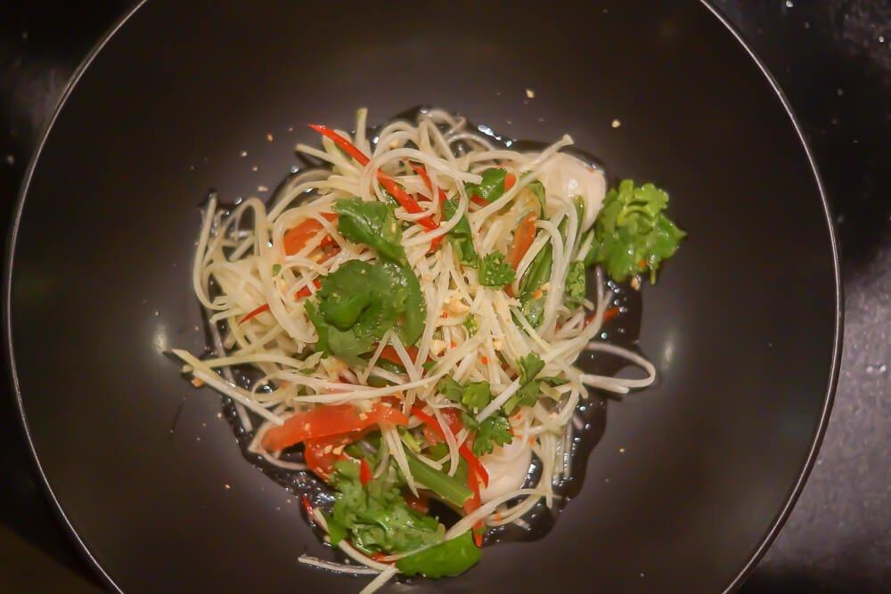 Black Thai Restaurant Moskau - Papayasalat mit Litschi