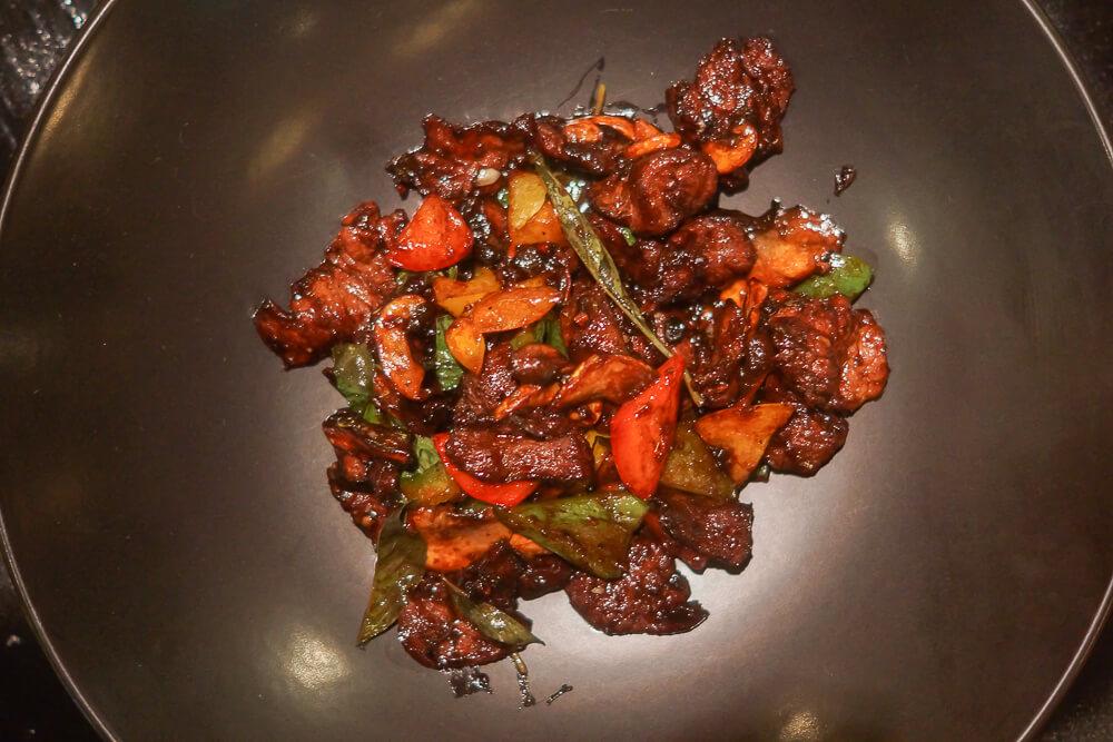 Black Thai Restaurant Moskau - Rinderpfanne mit Chili