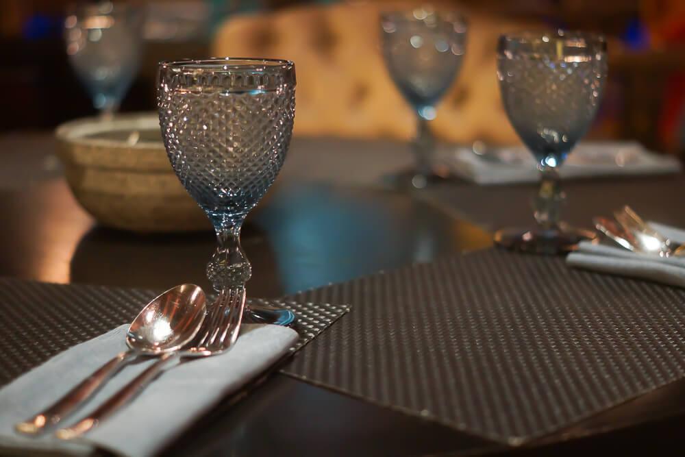 Black Thai Restaurant Moskau - Tischgedecke