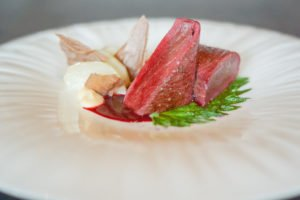 Restaurant Gastronomique l'Ours - Rehfilet auf den Punkt