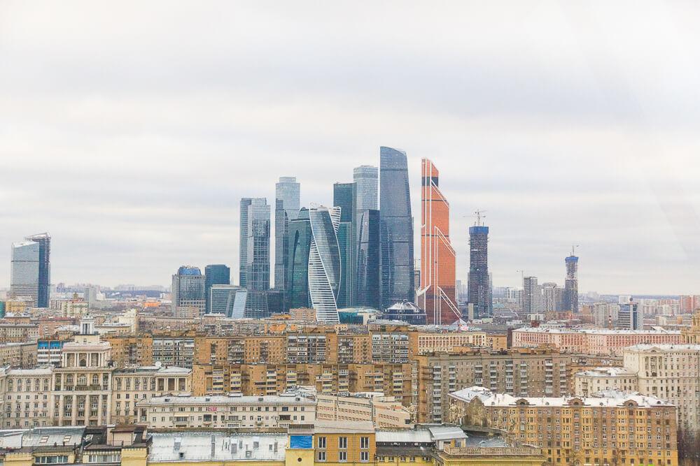White Rabbit Moskau - Ausblick über Moskau City