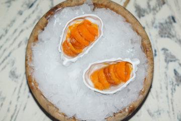White Rabbit Moskau - Caviar of Sea urchin, sea bucktorn and sea water