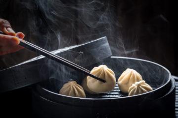 Chinesische Dumplings Streetfood