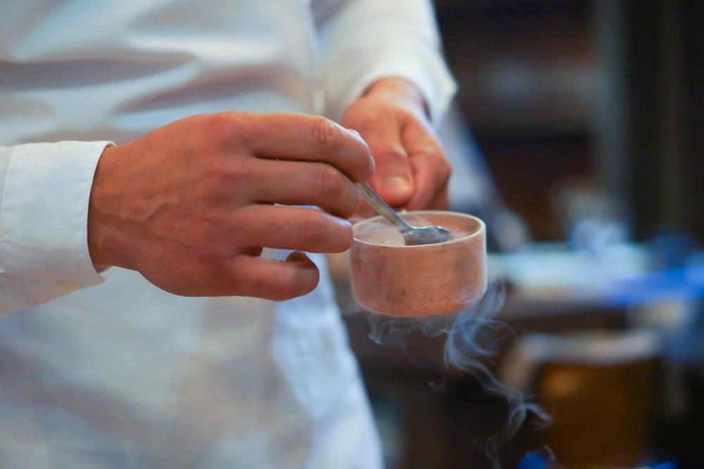 Baran Rappan Restaurant Sochi - Dessert anrichten