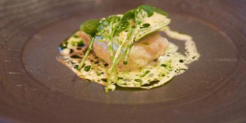 Baran Rappan Restaurant Sochi - Kabeljau mit beurre blanc und Spinat