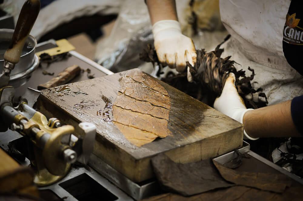 Deckblatt für aromatische Zigarren