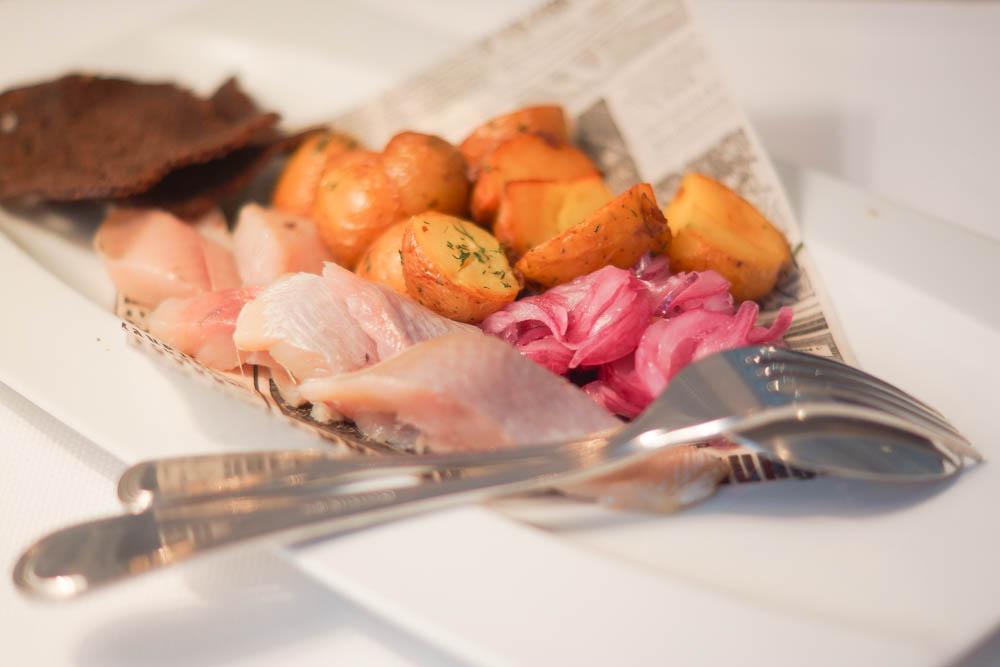 Grand-Café Dr. Zhivago - Hering, Kartoffeln und Zwiebel