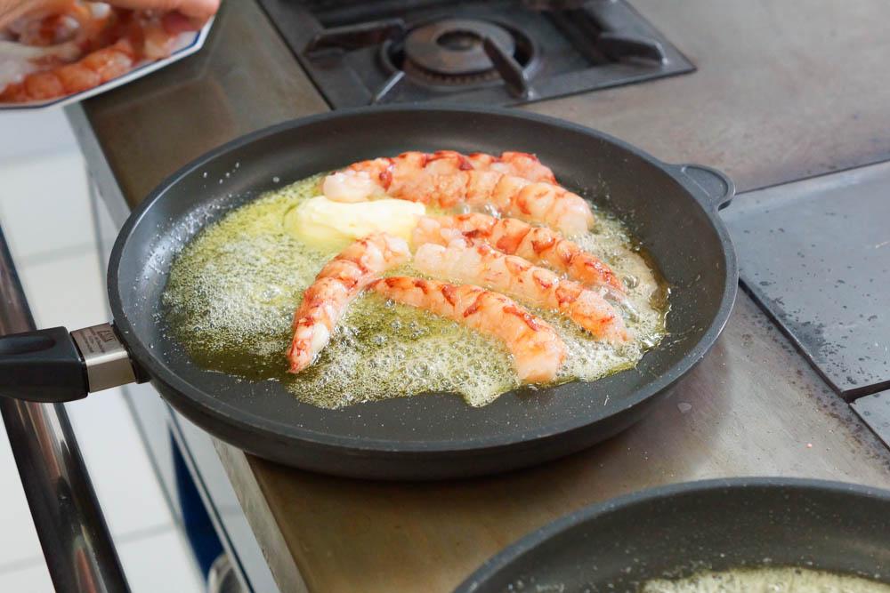 Los Caracoles Barcelona - Blick in die Küche
