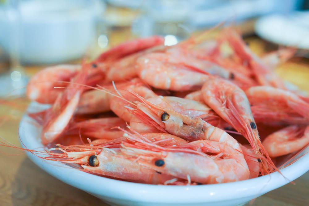 Los Caracoles Barcelona - Crevetten in Knoblauchsoße zum Dippen