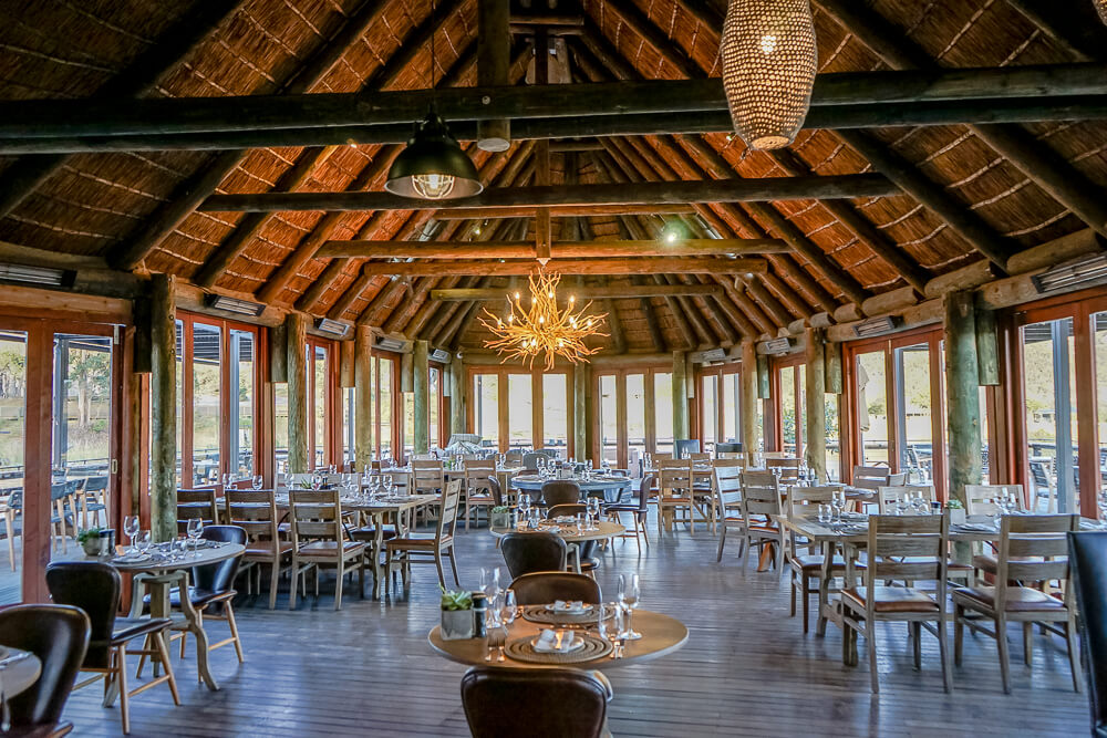 Botlierskop Game Reserve & Villas - offenes Restaurant