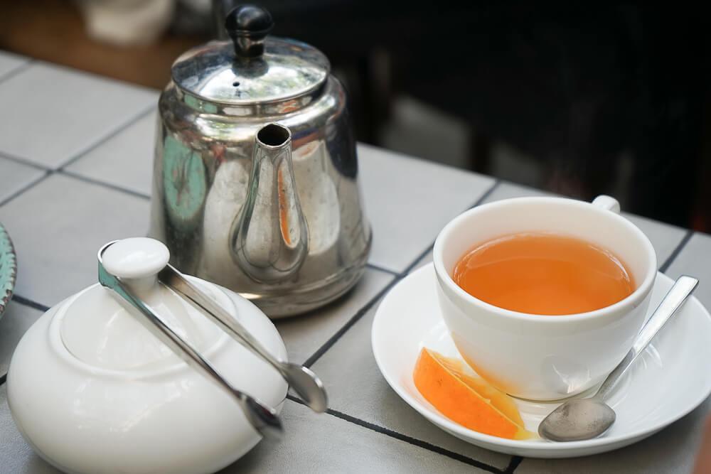 Chveni Restaurant Tiflis - Tee zum Abschluss
