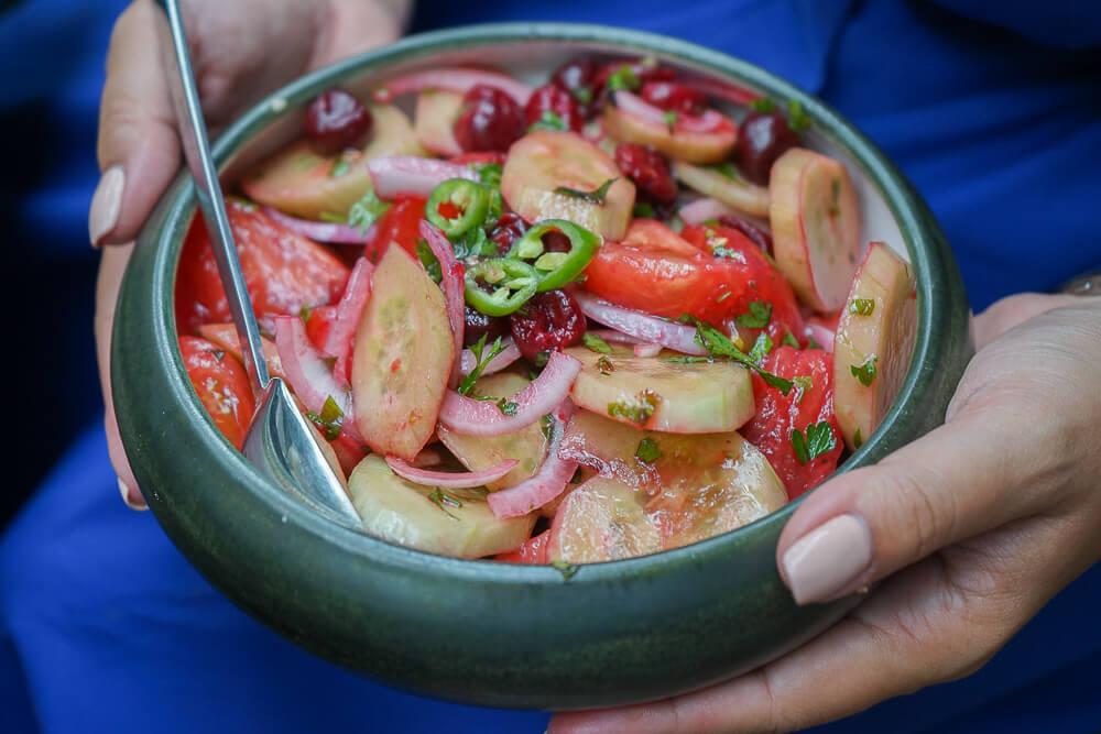 Chveni Restaurant Tiflis - schmackhafte Salate
