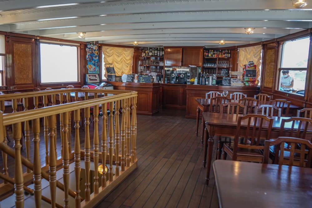 La Suisse Genfersee - Schaufelraddampfer Bar
