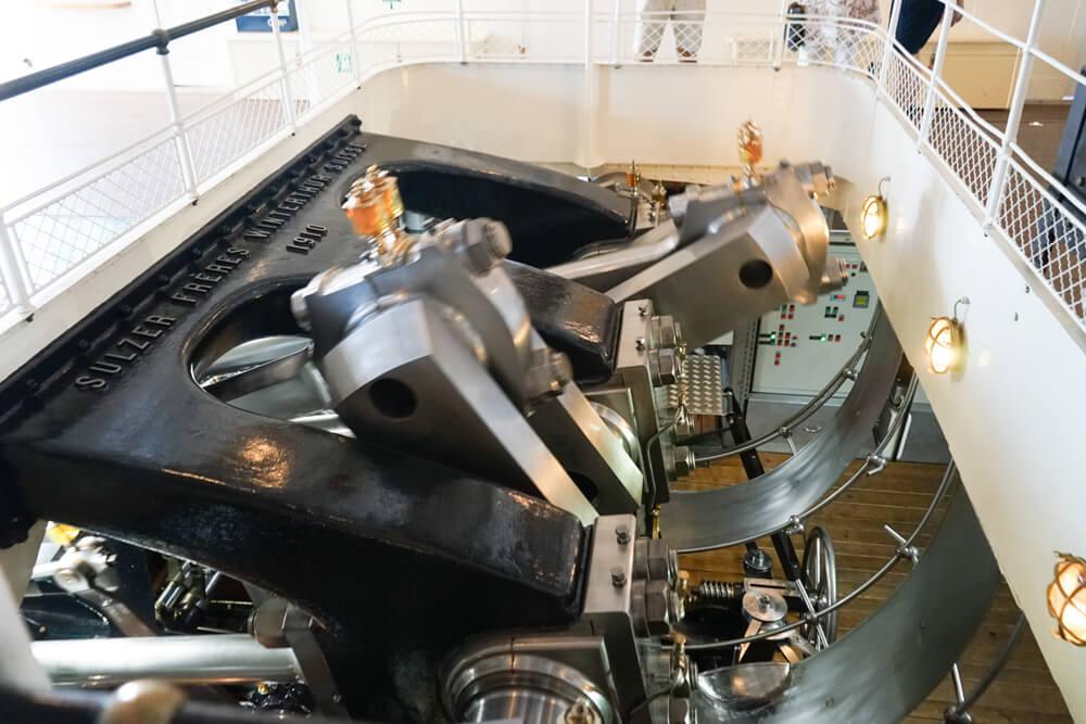 La Suisse Genfersee - Schaufelraddampfer Maschine
