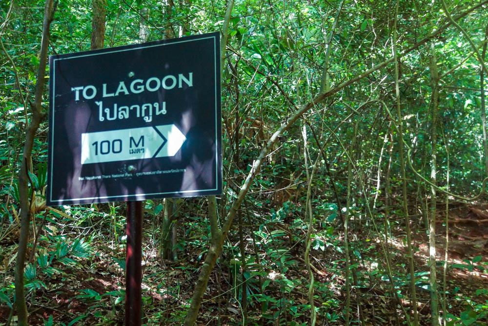 Railay Beach Lagoon - Folge dem Zeichen