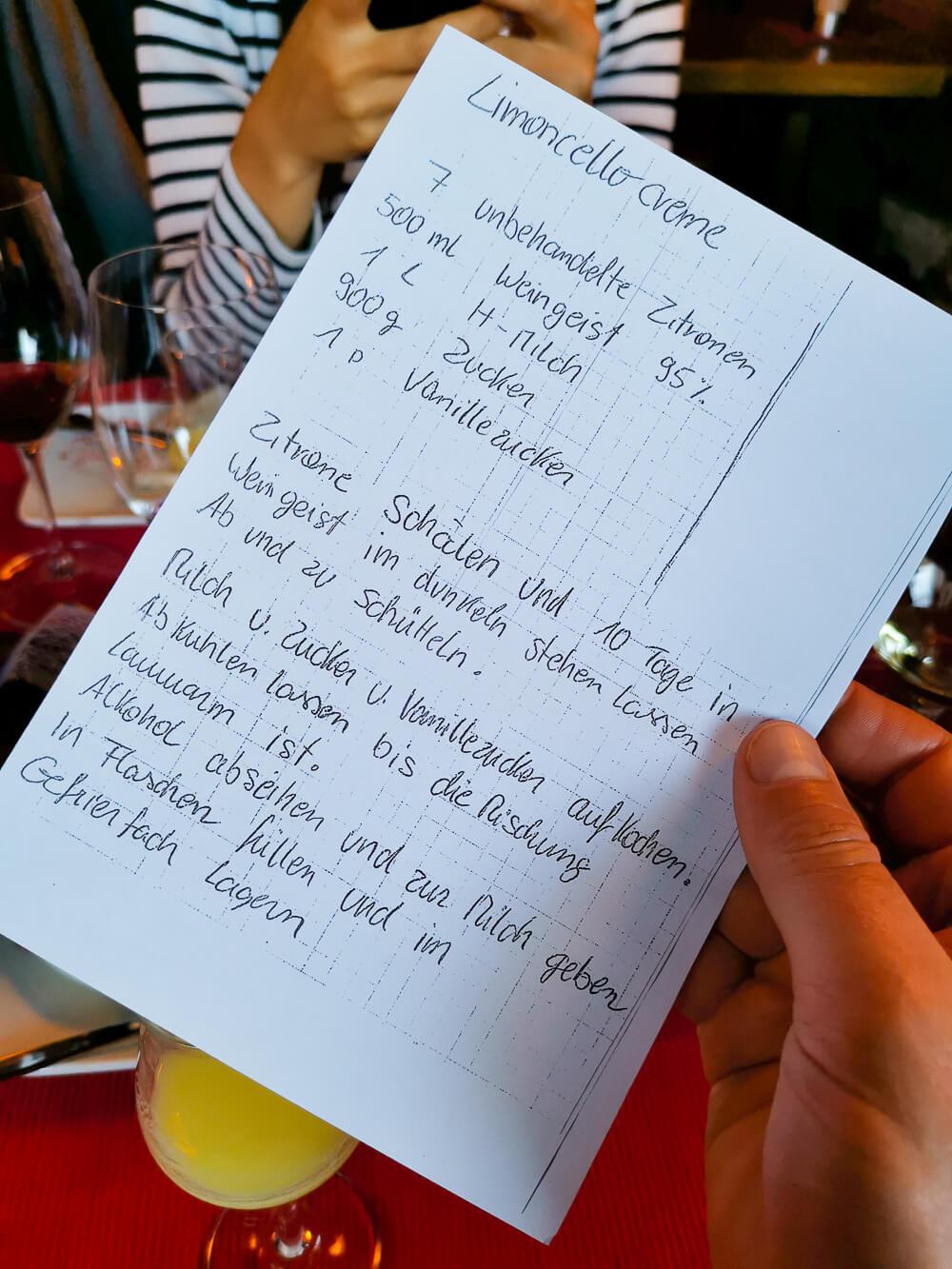 Restaurant Wiedenplatzerkeller, Naturns - Limoncello Creme Rezept