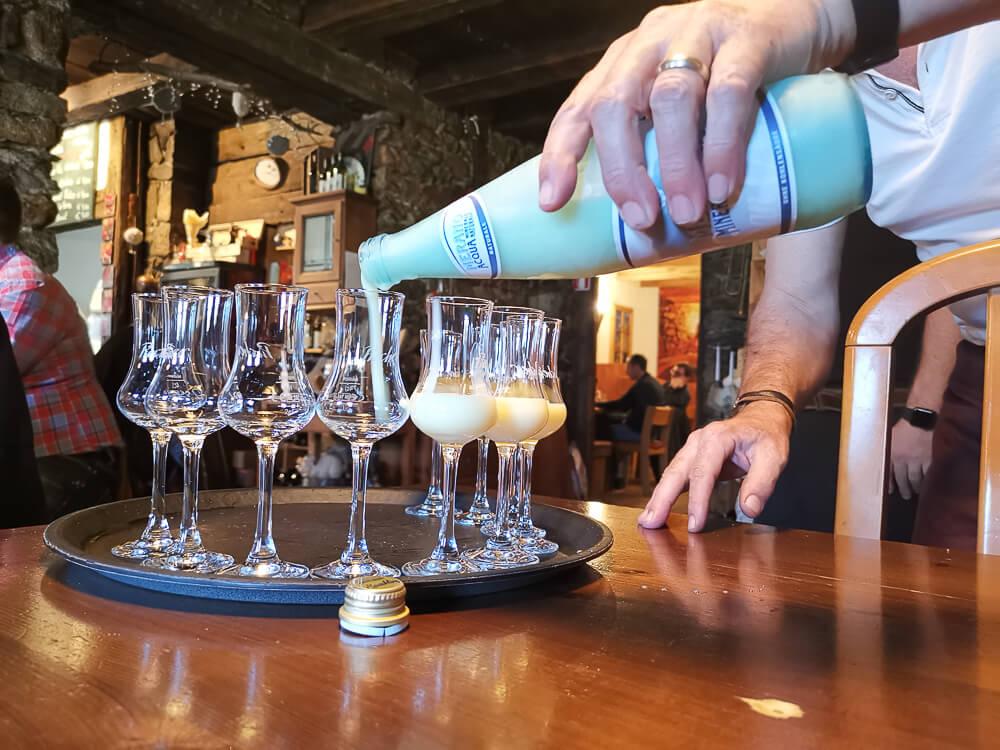 Restaurant Wiedenplatzerkeller, Naturns - selbstgemachte Limoncello Creme