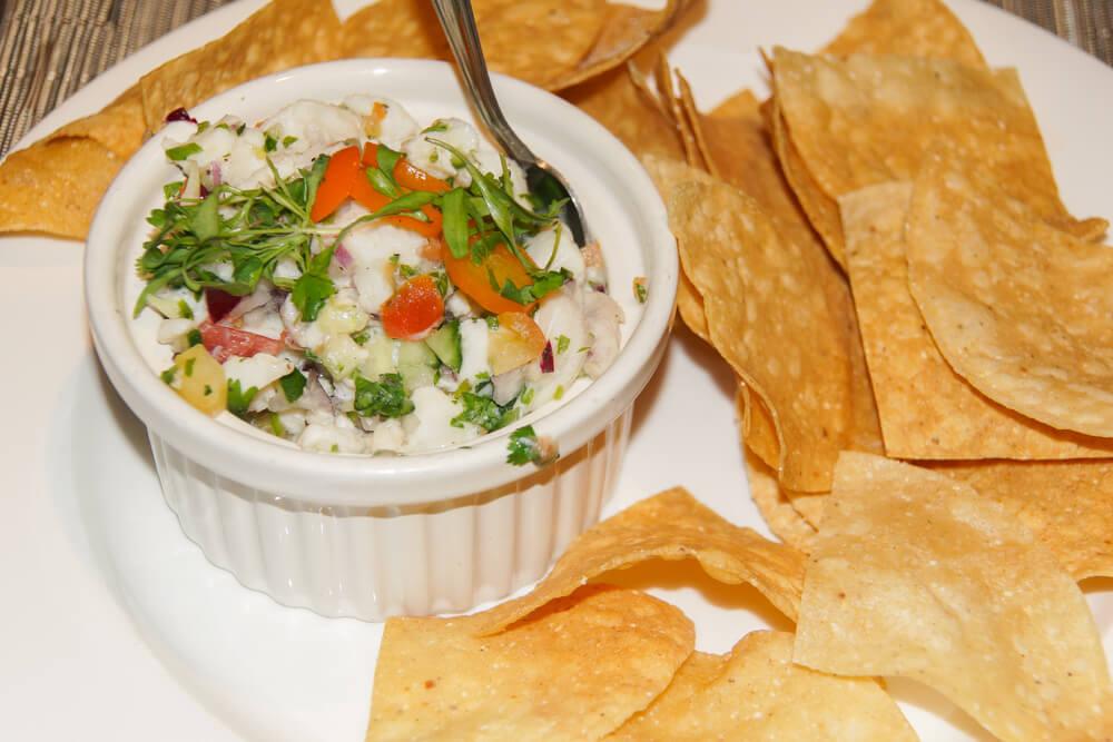 SALT Restaurant, Juneau - Ceviche und Chips