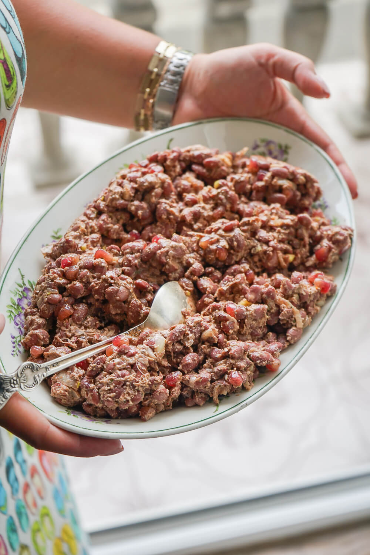 Supra Zeremonie, Georgien - Walnusspaste, Granatapfel, Bohnen
